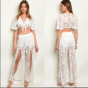 Other - NWT$110 2PC Coverup Top Set free people tiger mist